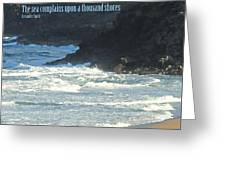 The Sea Complains Greeting Card