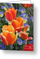 The Secret Life Of Tulips - 2 Greeting Card