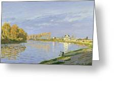 The Seine At Bougival Greeting Card