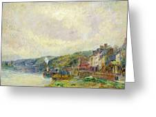 The Seine At Croisset Greeting Card