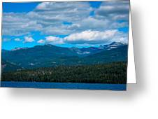 The Selkirk Mountains Of Priest Lake Greeting Card