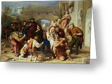 The Seven Ages Of Man Greeting Card by William Mulready
