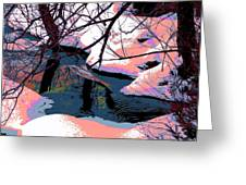 The Shades Of Winter Greeting Card