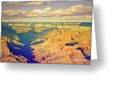 The Shadows In The Canyon Greeting Card