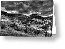 The Silver At Sunset Greeting Card by Darryl Gallegos