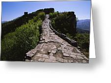 The Simatai Section Of The Great Wall Greeting Card by Raymond Gehman
