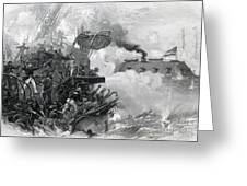 The Sinking Of The Cumberland, 1862 Greeting Card