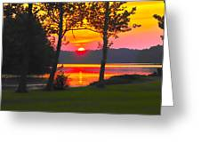 The Smiling Face Sunset Greeting Card
