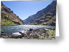 The Snake River In Hells Canyon Greeting Card