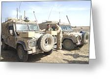 The Snatch Land Rover Used Greeting Card