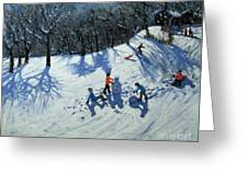 The Snowman  Greeting Card by Andrew Macara