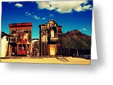 The Sombrero Bank In Old Tuscon Arizona Greeting Card