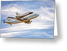 The Space Shuttle Endeavour Greeting Card
