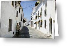 The Spanish Village Mijas Greeting Card
