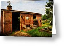 The Stable Greeting Card by Paul Ward