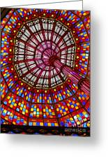 The Stained Glass Ceiling Greeting Card