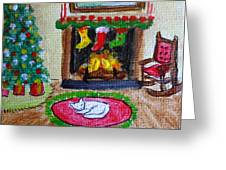The Stockings Were Hung Greeting Card