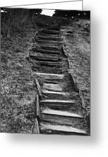 The Stone Staircase  Greeting Card