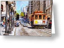 The Streets Of San Francisco . 7d7263 Greeting Card