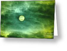 The Sun Through Clouds  Greeting Card