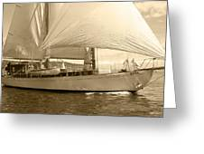 The Suva In Sepia Greeting Card