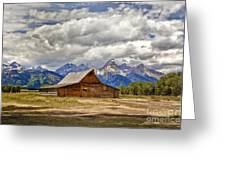 The T. A. Moulton Barn In Grand Teton National Park Greeting Card