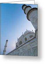 The Taj Mahal At Dusk, Low Angle View Greeting Card