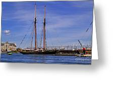 The Tall Ship Pacific Grace Based In Victoria Canada Greeting Card by Louise Heusinkveld