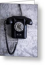 The Telephone. Greeting Card
