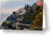 The Terraces Of Amalfi Greeting Card