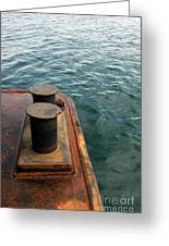 The Tether Strap On A Pontoon Boat Greeting Card