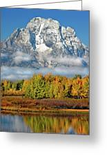 The Tetons In Autumn Greeting Card