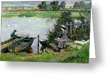 The Thames At Benson Greeting Card