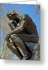 The Thinker By Rodin Greeting Card