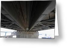 The Three Benicia-martinez Bridges In California - 5d18842 Greeting Card