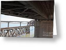 The Three Benicia-martinez Bridges In California - 5d18844 Greeting Card