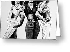 The Three Degrees Greeting Card