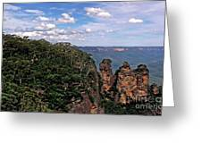 The Three Sisters - The Blue Mountains Greeting Card