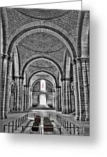 The Tombs At Fontevraud Abbey   France Greeting Card