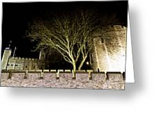 The Tower Of London At Night  Greeting Card