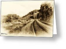 The Tracks Of My Tears Greeting Card