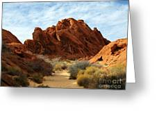 The Trail Through The Valley Greeting Card