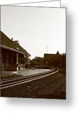 The Train Depot Greeting Card