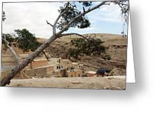 The Tree In Desert Greeting Card