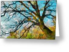 The Tree Of Many Colours  Greeting Card