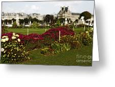 The Tuilleries Garden In Paris Greeting Card