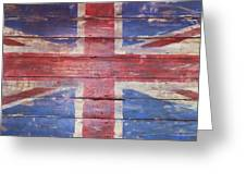 The Union Jack Greeting Card by Anna Villarreal Garbis