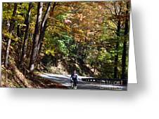 The Uphill Climb Greeting Card