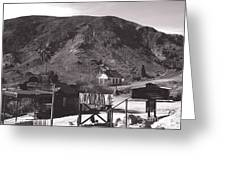 The Upper Village Of Calico Ghost Town Greeting Card