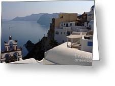 The View At Fira Greeting Card